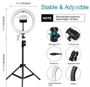"""12"""" LED Ring Light With Tripod Stand Phone Holder   Accessories & Supplies for Electronics for sale in Lagos State, Ojo"""