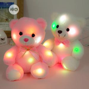 22cm Light Up LED Teddy Bear Plush Toy Doll -Pink | Toys for sale in Lagos State, Ikeja