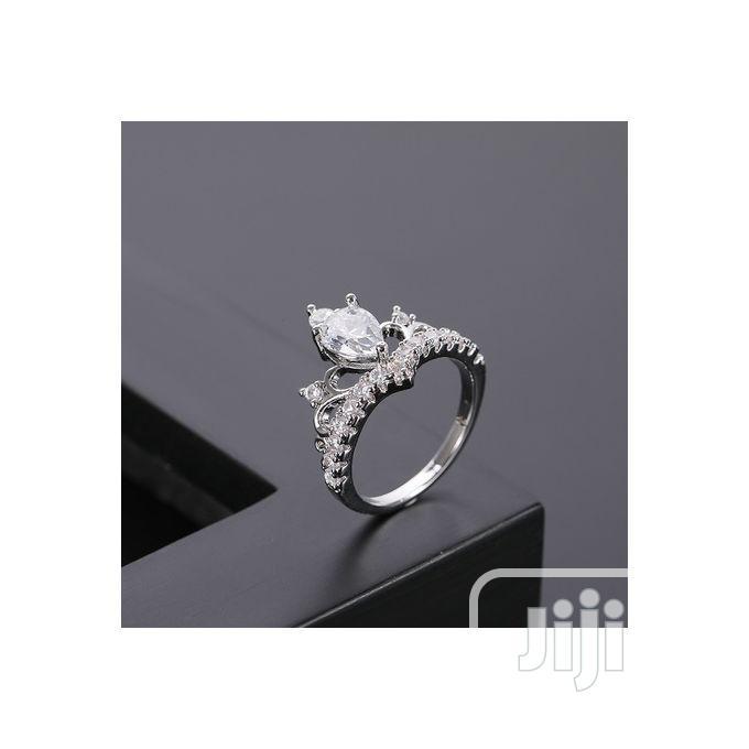 Archive: Tiara Crown Silver Zirconia Women Engagement Ring