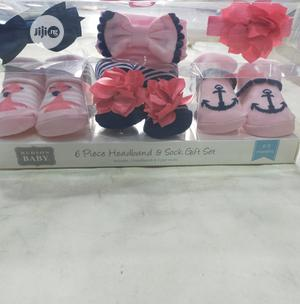 3in1 Baby Socks With Beautiful Hair Bond | Children's Clothing for sale in Lagos State, Amuwo-Odofin