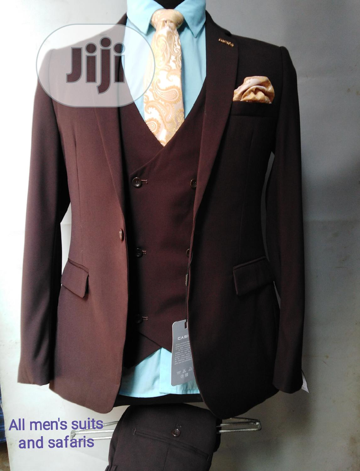 3pieces Coffee Brown Suit | Clothing for sale in Yaba, Lagos State, Nigeria