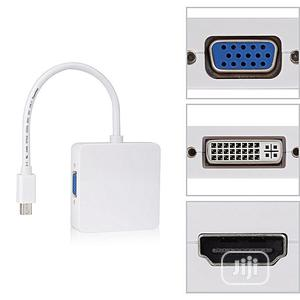 Mini Display Port DP to Dvi VGA HDMI TV AV HDTV Adapter Cabl | Accessories & Supplies for Electronics for sale in Lagos State, Ikeja