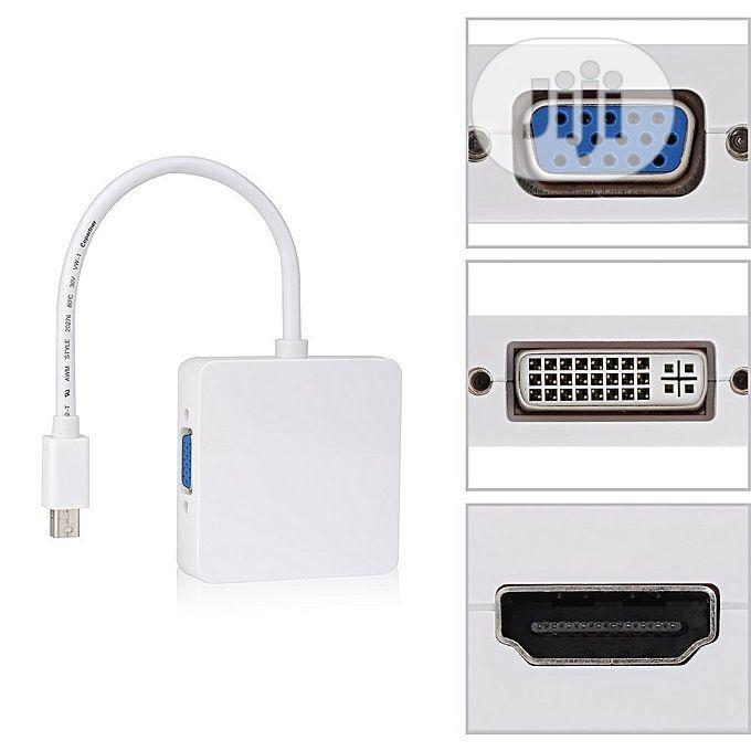 Mini Display Port DP to Dvi VGA HDMI TV AV HDTV Adapter Cabl