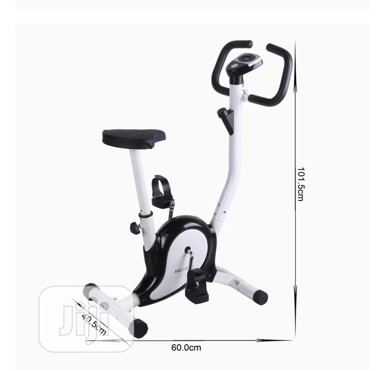Upright B Cycle Trainer Exercise Bike With LCD Display White | Sports Equipment for sale in Asokoro, Abuja (FCT) State, Nigeria