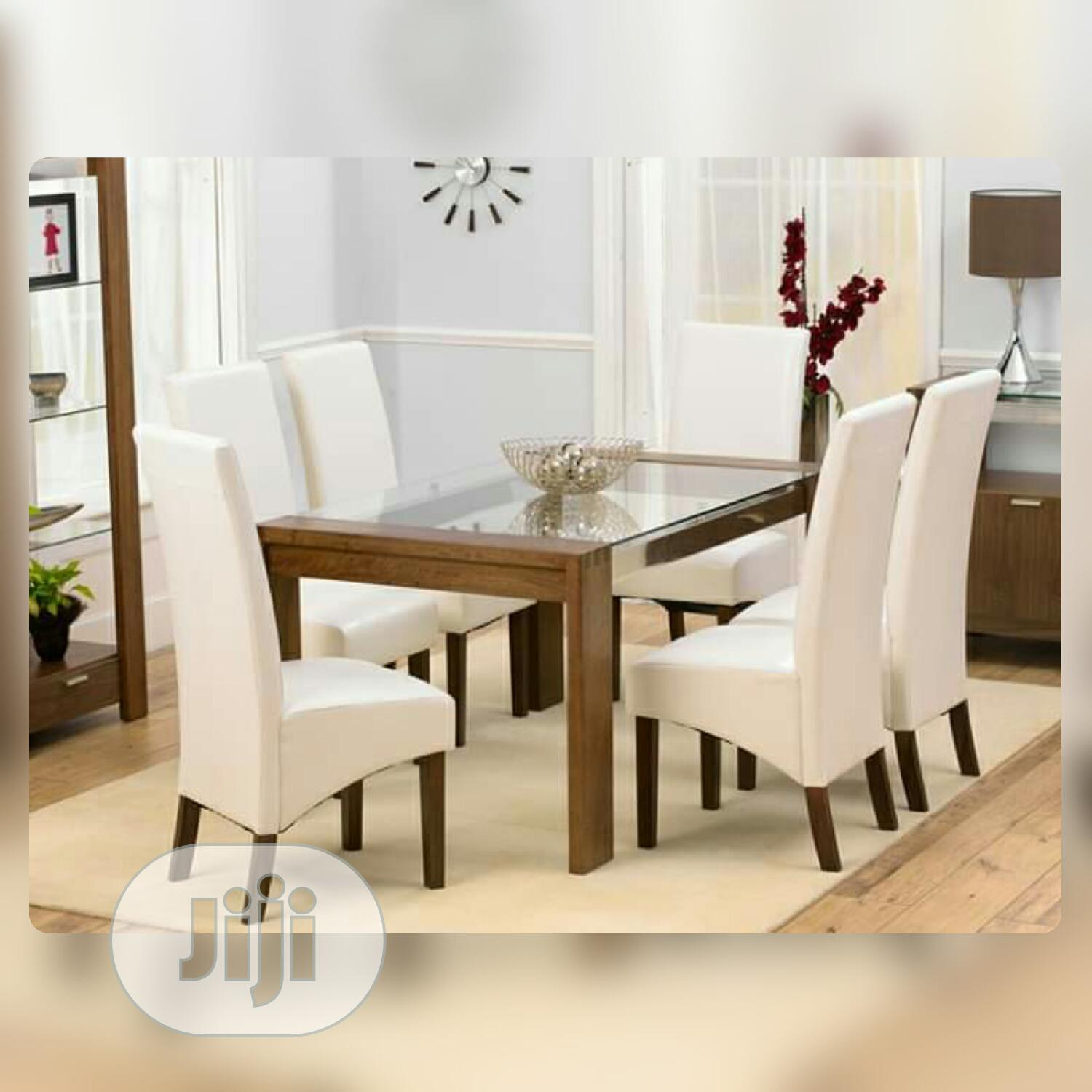 Archive 6 Seater Dining Set With Light Glass Top In Lekki Furniture Amobi Furniture Jiji Ng