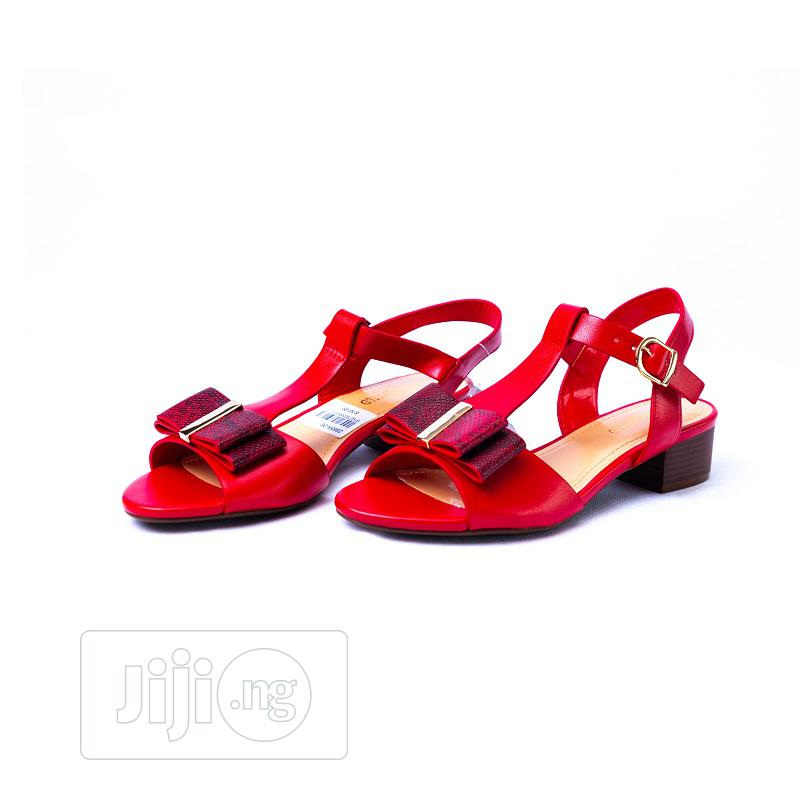 Quality Design Red Leather Sandals