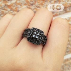 Black Sterling Silver Female Wedding Ring Set | Wedding Wear & Accessories for sale in Oyo State, Ibadan