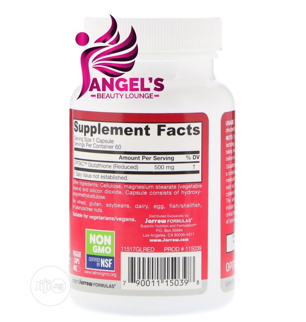 Jarrow Formulas Glutathione Reduced 500mg 60 Capsules | Vitamins & Supplements for sale in Ojo, Lagos State, Nigeria