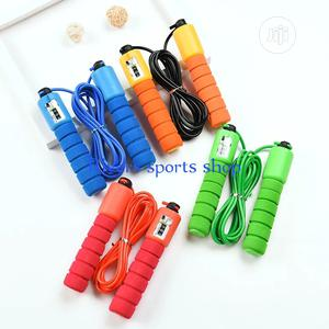 Jump Rope With Counter Sports Fitness Adjustable Rope | Sports Equipment for sale in Rivers State, Port-Harcourt