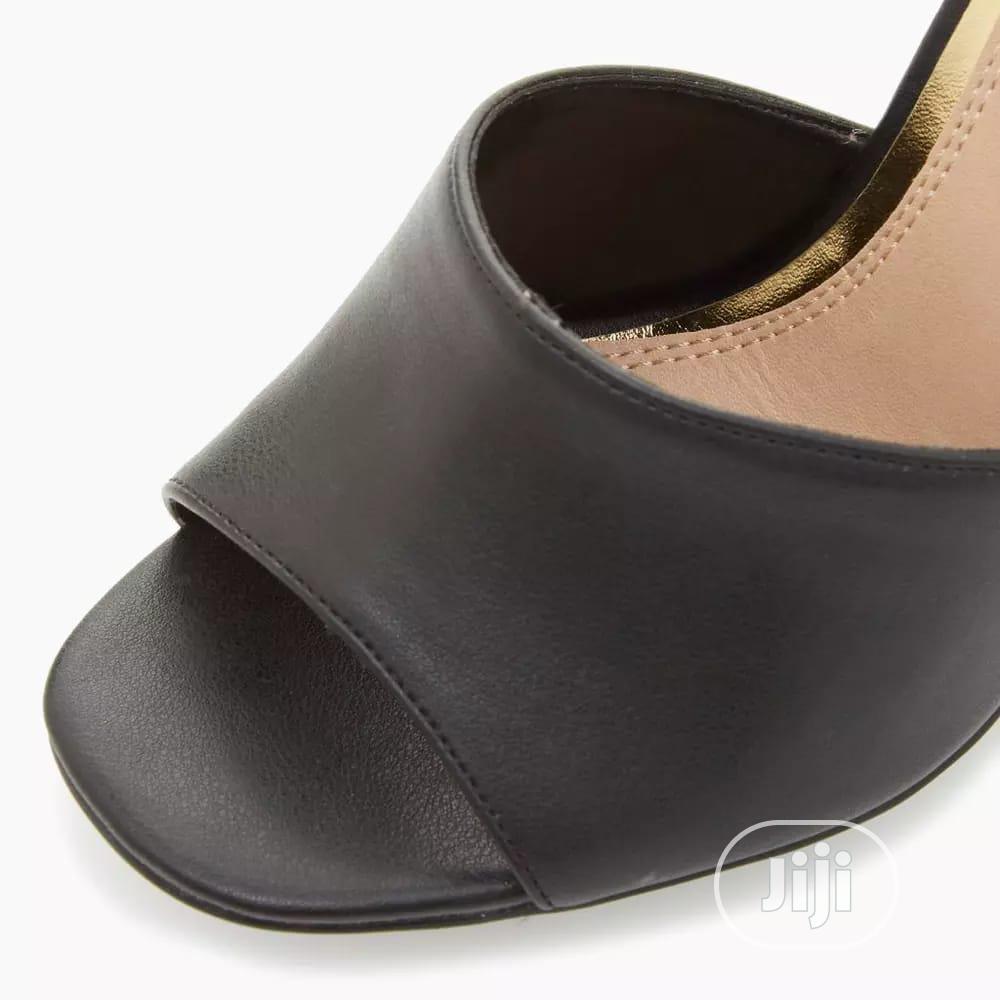 Black Tortoiseshell Block Heel Sandals | Shoes for sale in Surulere, Lagos State, Nigeria