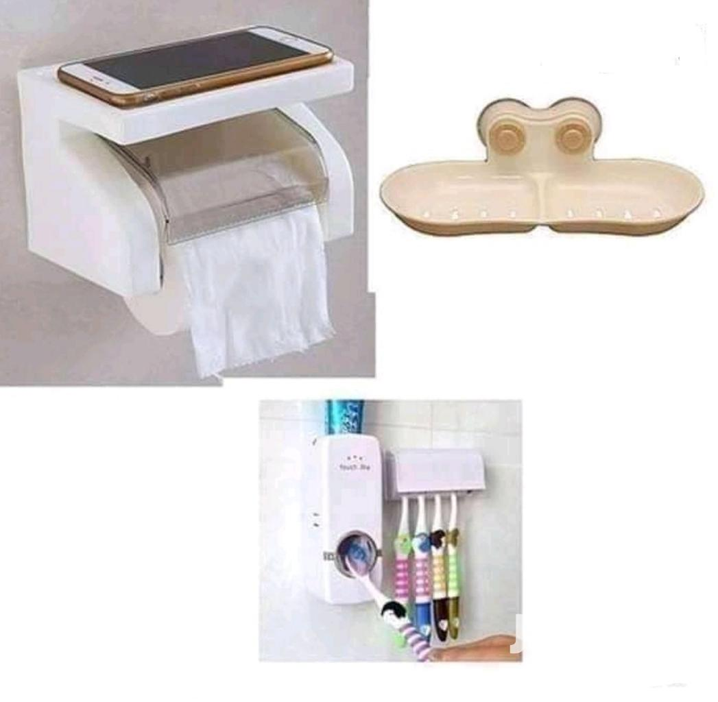 Archive: Tissue Paper Holder+ Soap Holder+ Toothpaste Dispenser
