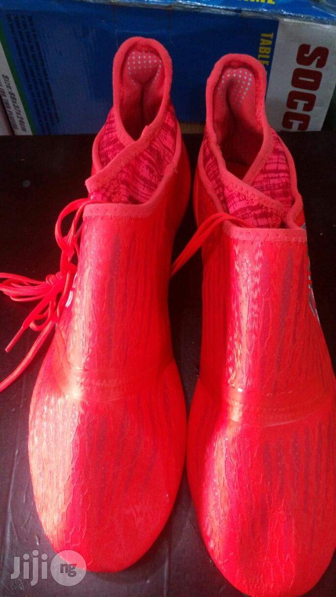 Adidas Latest Ankle Boot Red   Shoes for sale in Ikeja, Lagos State, Nigeria