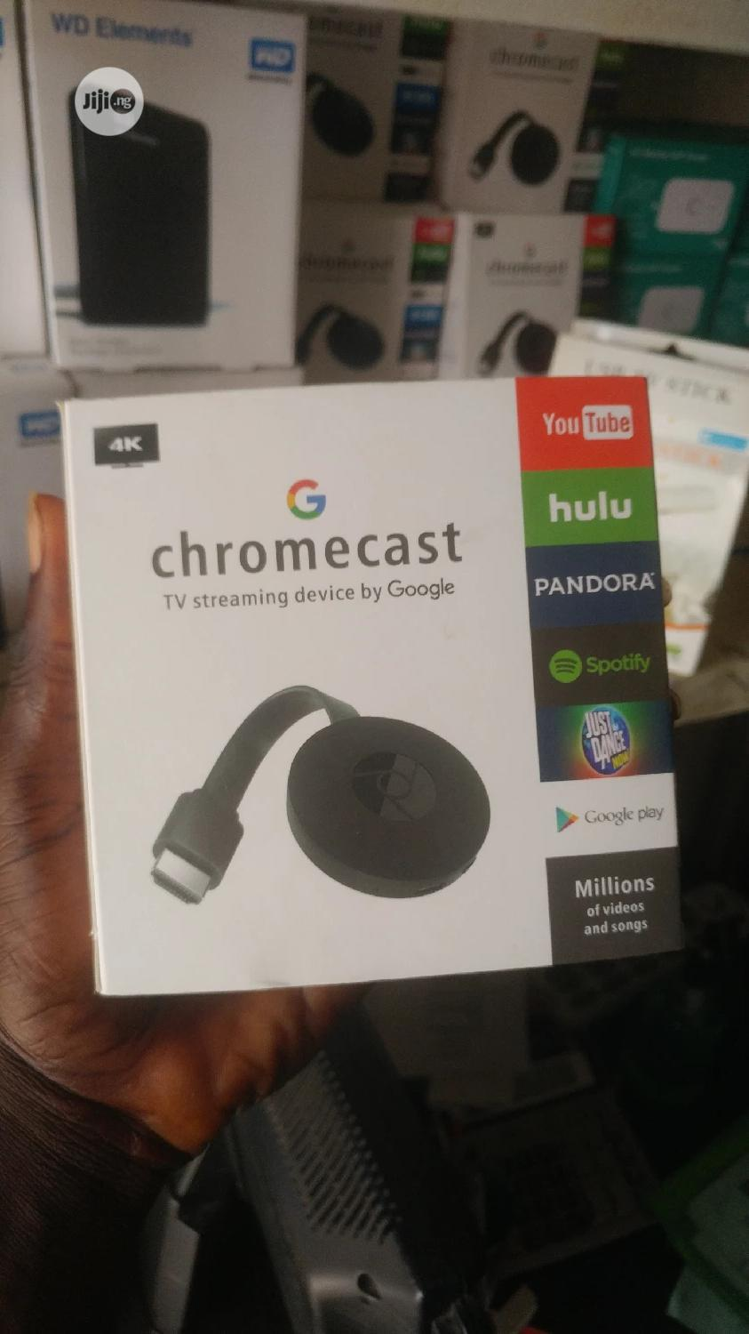 Chromecast Wifi 4K 1080P HDMI From Smartphones/Laptops To TV | Accessories & Supplies for Electronics for sale in Ikeja, Lagos State, Nigeria