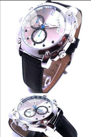Night Vision HD 1080P 8GB Leather Spy Watch | Security & Surveillance for sale in Lagos State, Ojo
