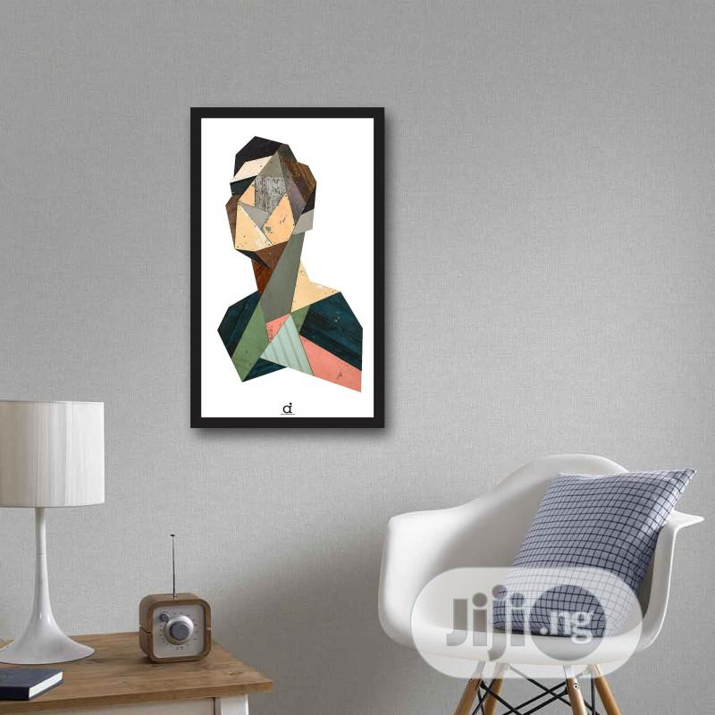 Abstract Geometric Portrait Wall Frame(17x11inches)