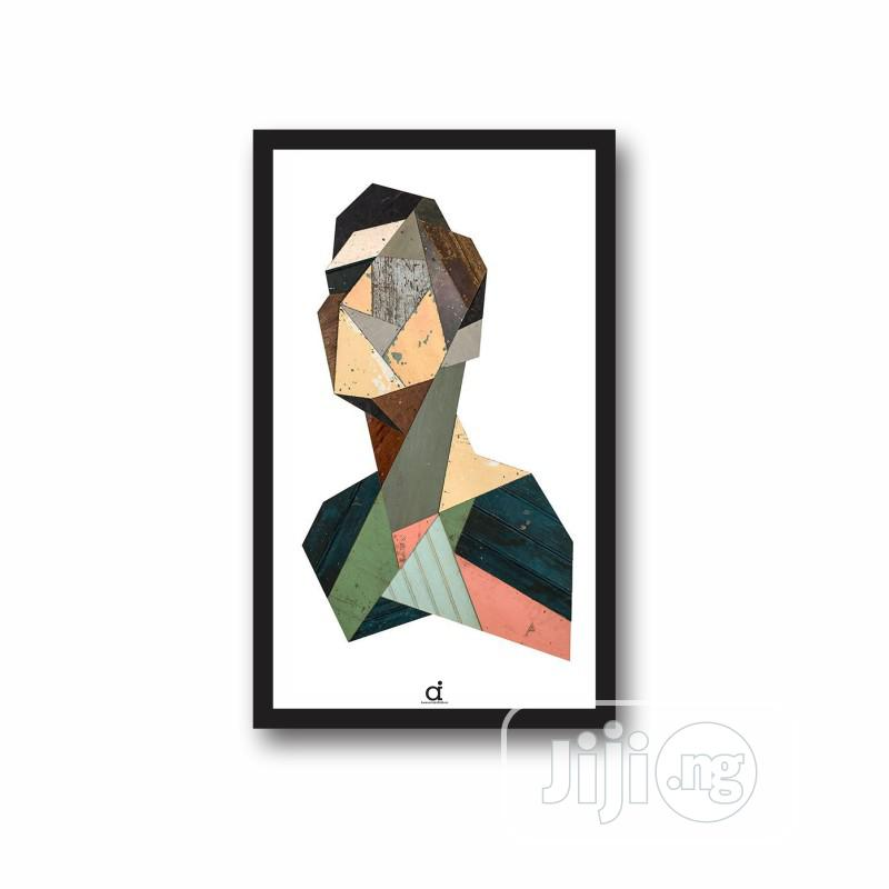 Abstract Geometric Portrait Wall Frame(17x11inches) | Arts & Crafts for sale in Isolo, Lagos State, Nigeria