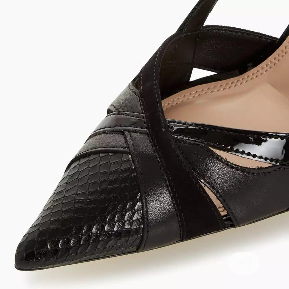 Ladies Black Two Part High Heel Court Shoes   Shoes for sale in Surulere, Lagos State, Nigeria