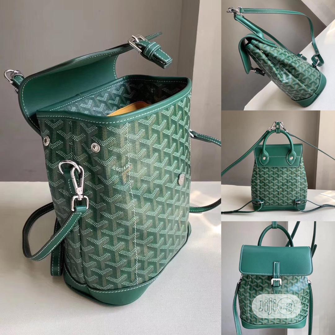 Alpin Mini Backpack by Maison GOYARD (Green) | Bags for sale in Kubwa, Abuja (FCT) State, Nigeria