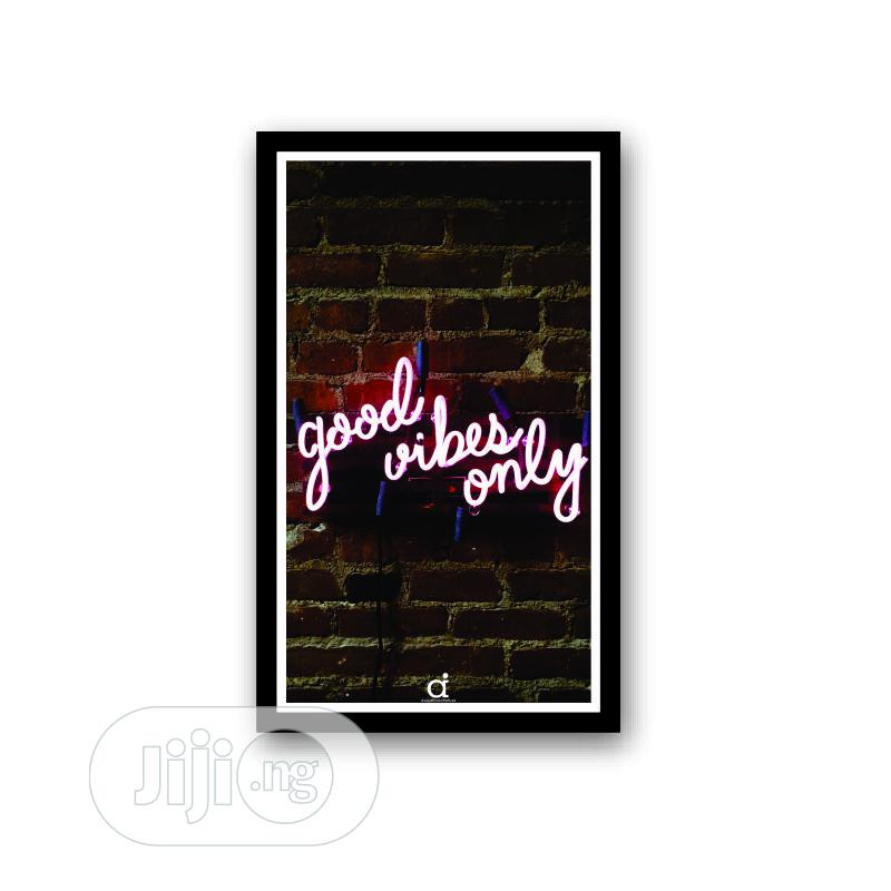 Archive: Good Vibes Wall Frame (17x11 Inches)
