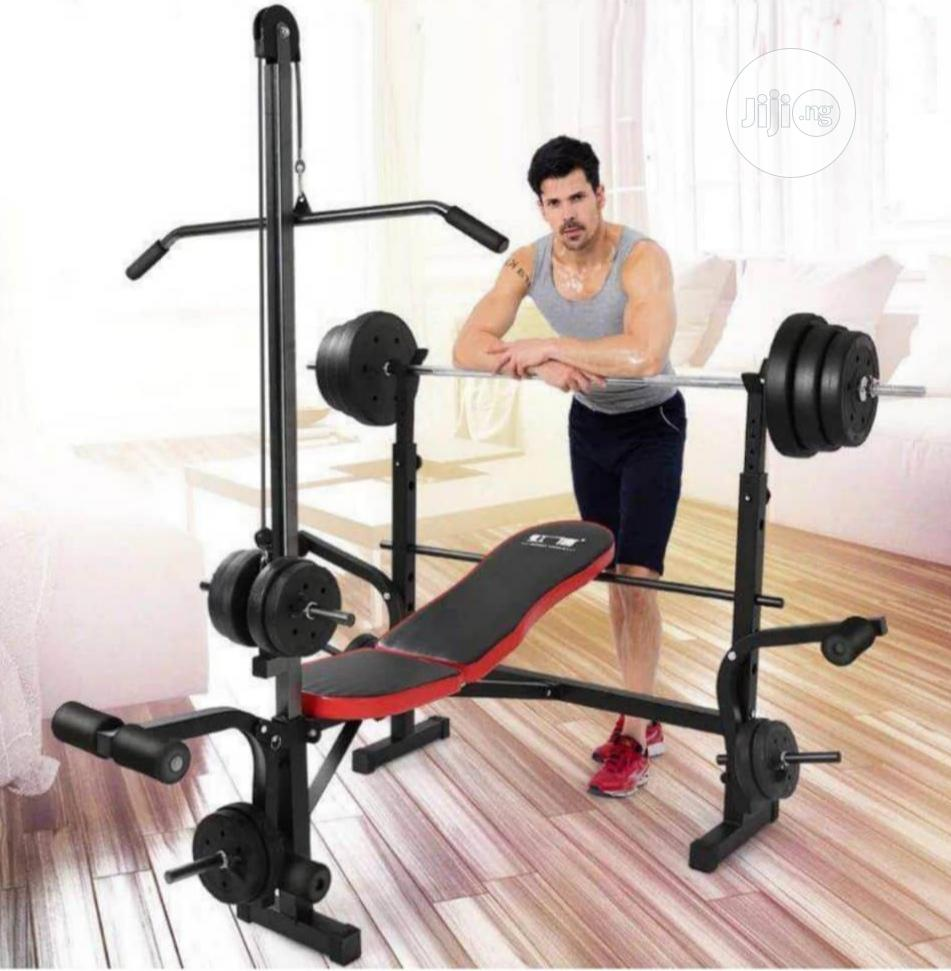 High Quality Commercial Weight Bench With Lat Pull
