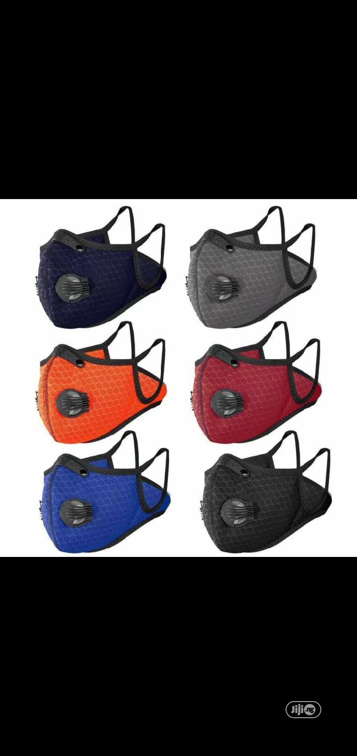 Two Valve Reusable Nose Masks Available In Different Colours