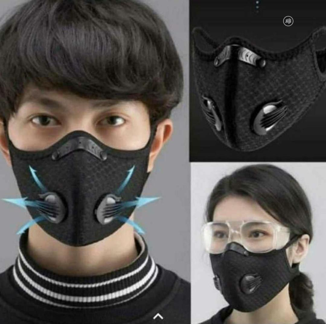 Two Valve Reusable/ Washable/ Dust Resistant Nose Masks | Safety Equipment for sale in Lekki, Lagos State, Nigeria