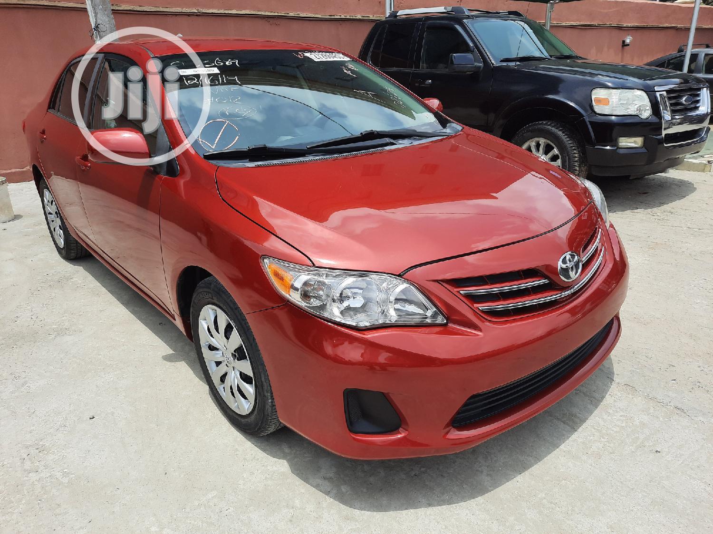 Toyota Corolla 2013 Red