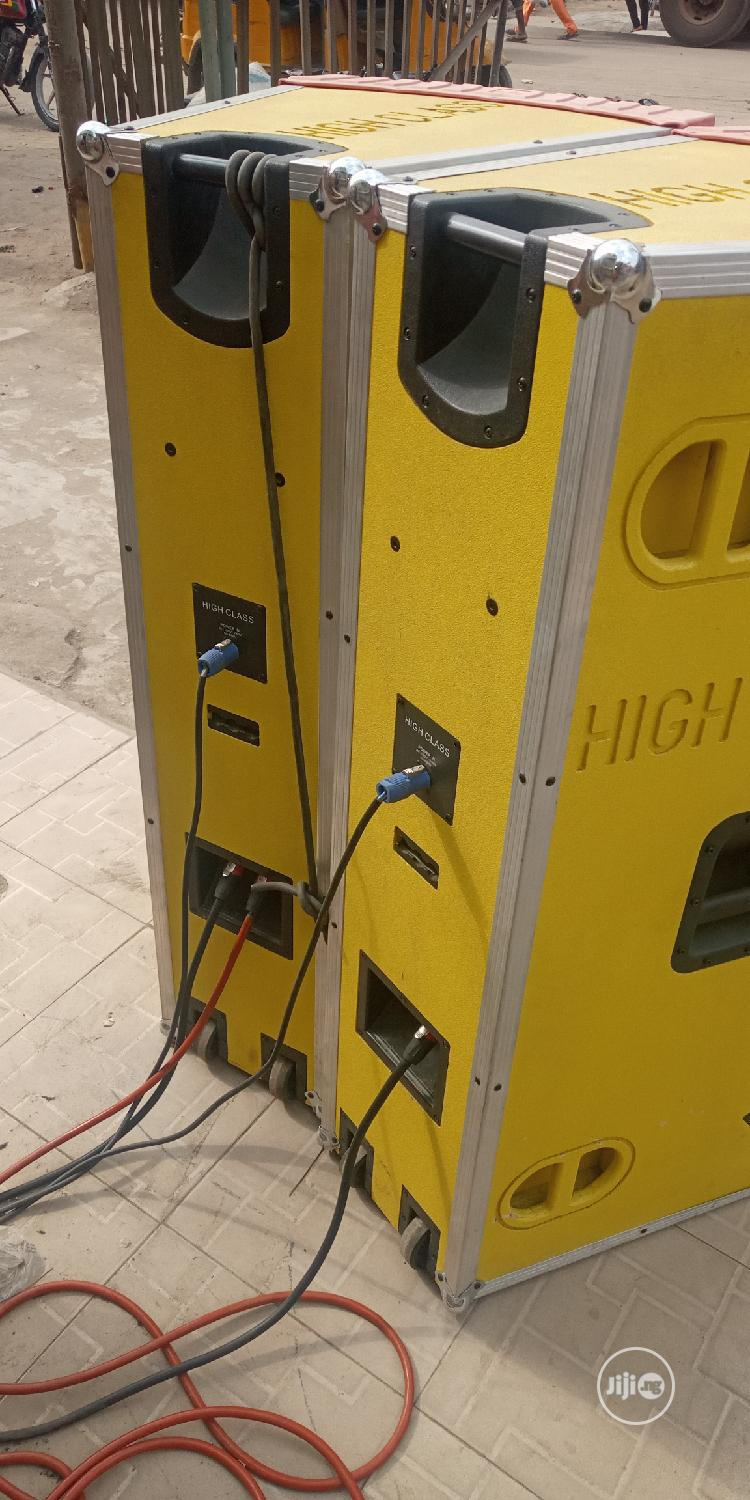 High Class Long Speaker No 1   Audio & Music Equipment for sale in Ojo, Lagos State, Nigeria