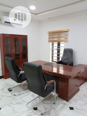 MD Executive Office Table and Chairs With Book Shelf | Furniture for sale in Lagos State, Ikeja