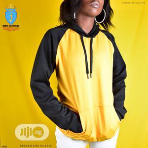 Unisex Yellow Black Raglan Hoodie | Clothing for sale in Lagos State, Surulere