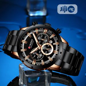 CURREN Black Chain Strap Chronograph Watch | Watches for sale in Rivers State, Port-Harcourt