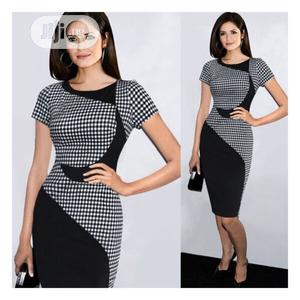Patterned Dress - Black White   Clothing for sale in Lagos State, Ajah
