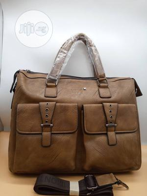 Montblanc Men'S Solid Leather Material Handbag   Bags for sale in Lagos State, Lagos Island (Eko)