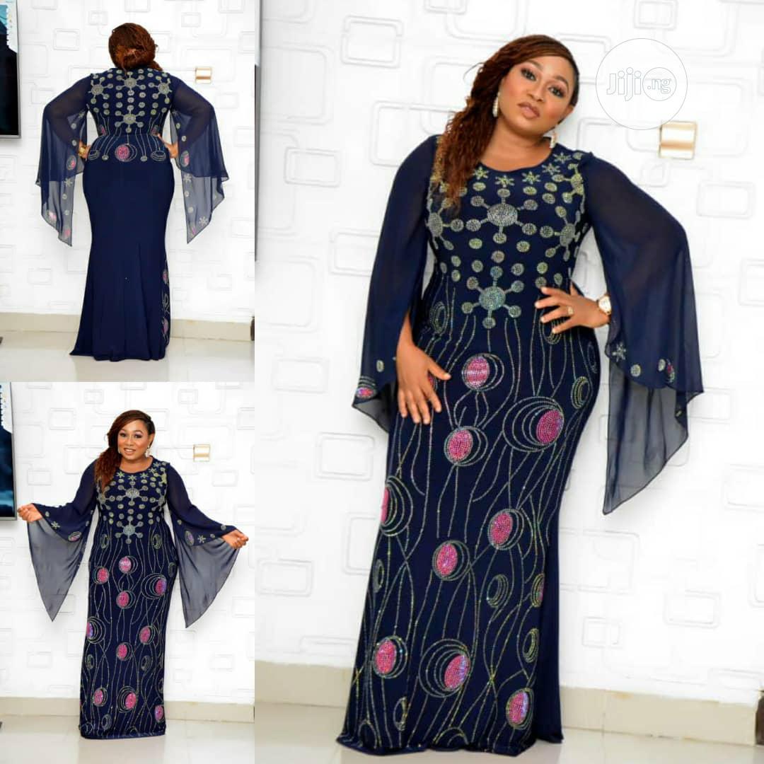 New Female Turkey Quality Long Dress With Stones | Clothing for sale in Lagos Island (Eko), Lagos State, Nigeria
