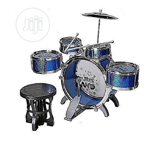 Children's Drum Set With Seat.