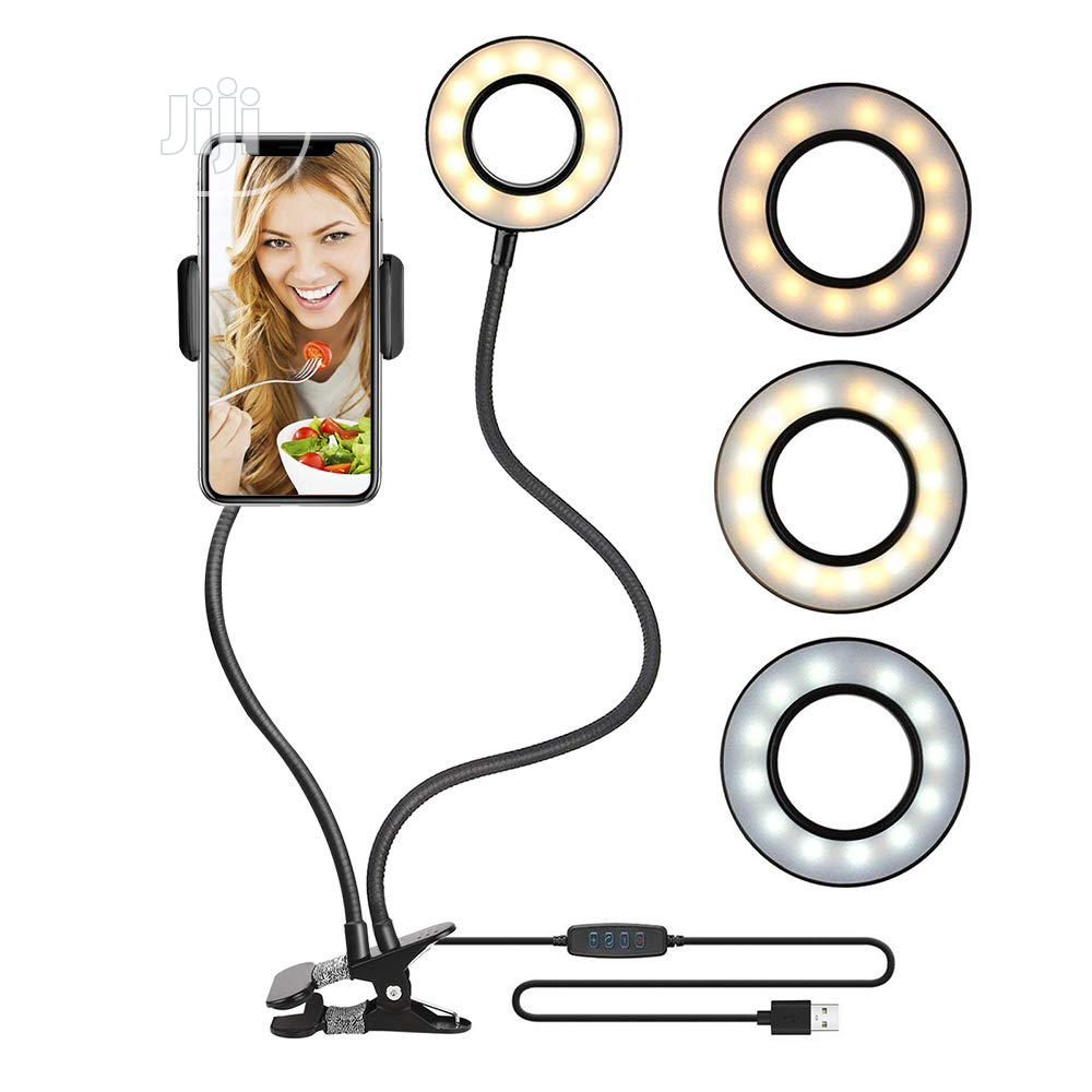 Makeup Usb Selfie Ring Light With Clip Lazy Bracket Cell Pho