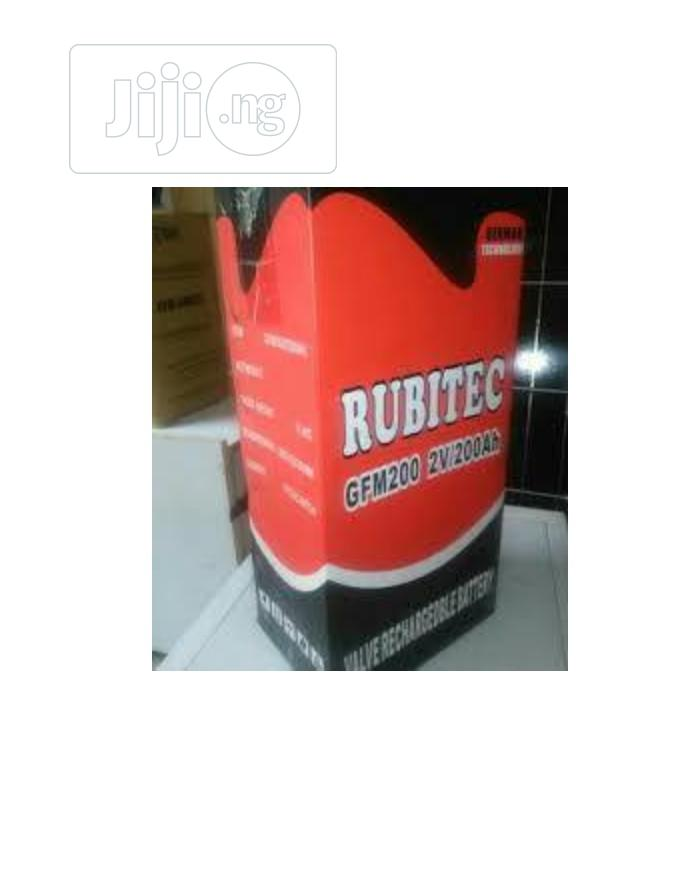 Rubitec 2V/200ah Battery | Electrical Equipment for sale in Ojo, Lagos State, Nigeria