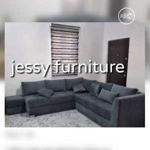 New Set of L-Shaped Fabric Sofa With an Ottoman | Furniture for sale in Lagos State, Lekki