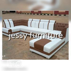 New Set of L-Shaped Fabric Sofa Trending Designs   Furniture for sale in Lagos State, Gbagada