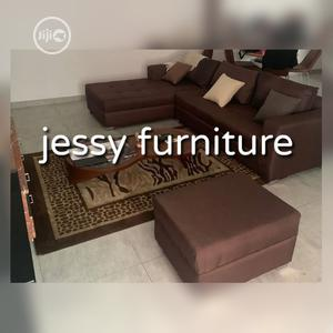 New Set of L-Shaped Fabric Sofa With an Ottoman | Furniture for sale in Lagos State, Magodo