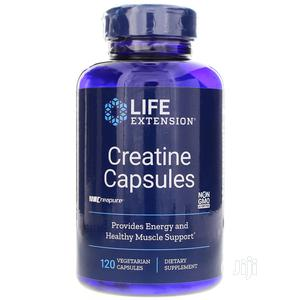 Life Extension Creatine 120 Vegetarian Capsules Provides Ene | Vitamins & Supplements for sale in Lagos State, Amuwo-Odofin