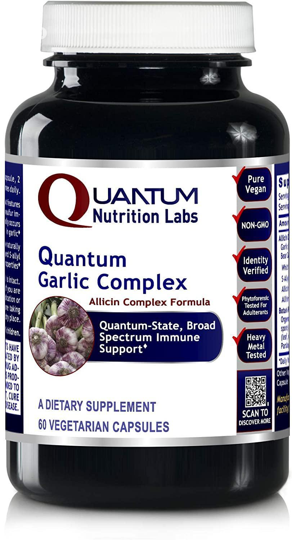 Quantum Nutrition Labs Garlic Complex 60 Capsules Allicin Co | Vitamins & Supplements for sale in Amuwo-Odofin, Lagos State, Nigeria