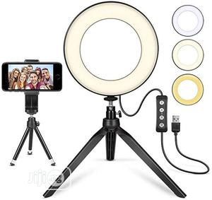 Photography 10 Inch LED Ring Light Lamp Tripod Stand | Accessories & Supplies for Electronics for sale in Lagos State, Ikeja