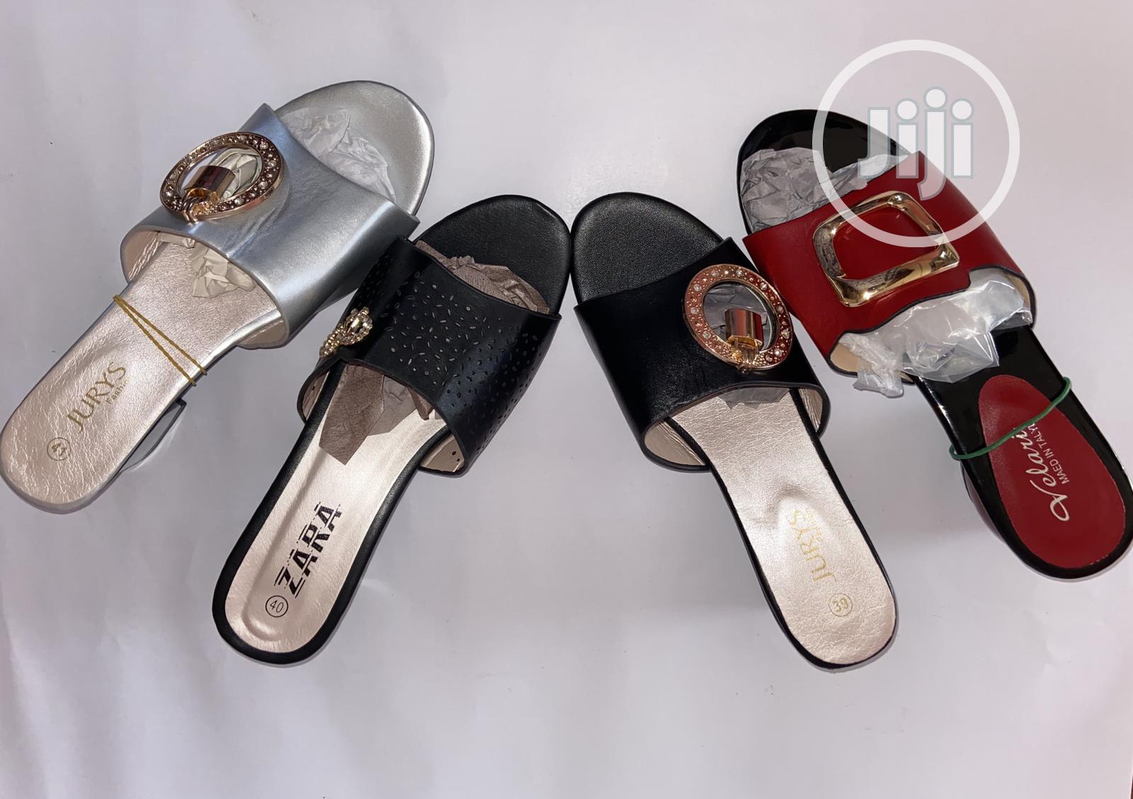 Grandma Slippers With Low Block Heel in