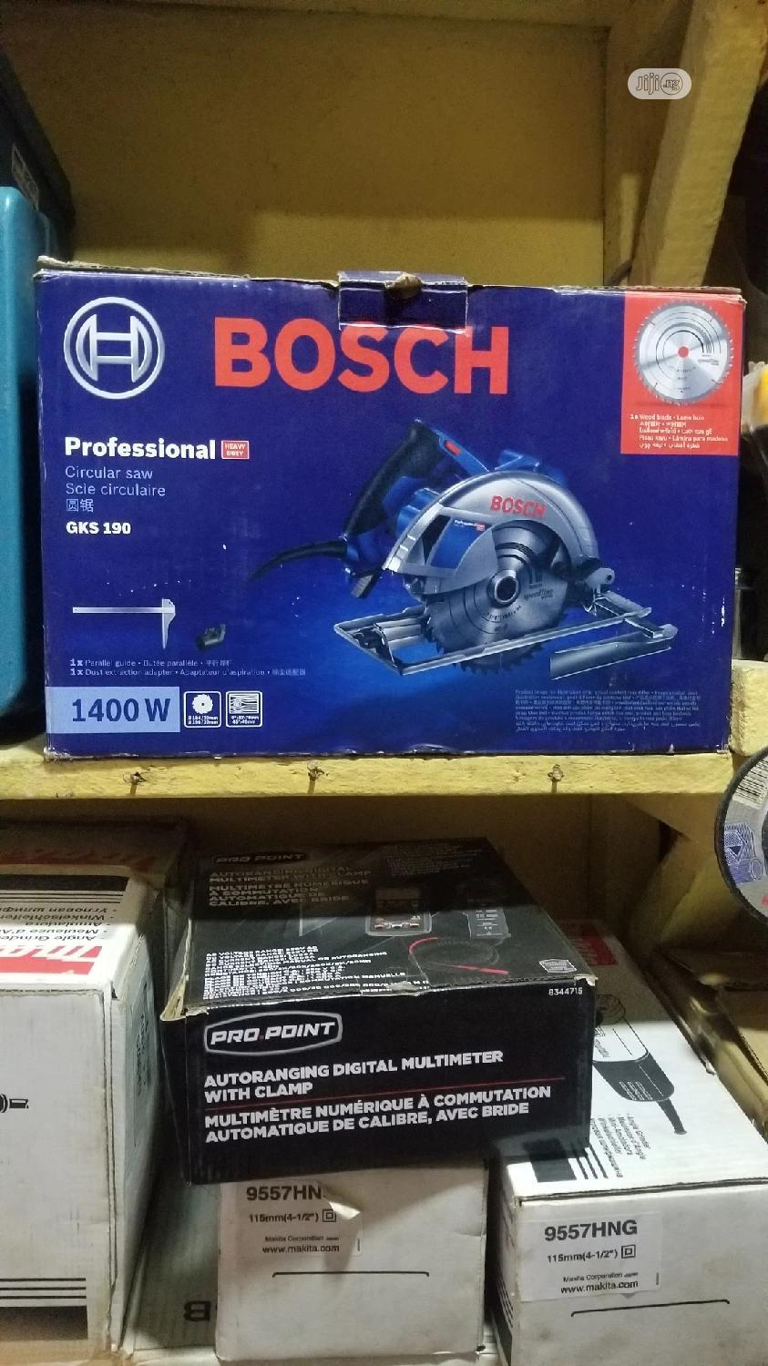 Obi-ng Professional Bosch 7inchs Circular Saw GKS190 | Electrical Hand Tools for sale in Ojo, Lagos State, Nigeria