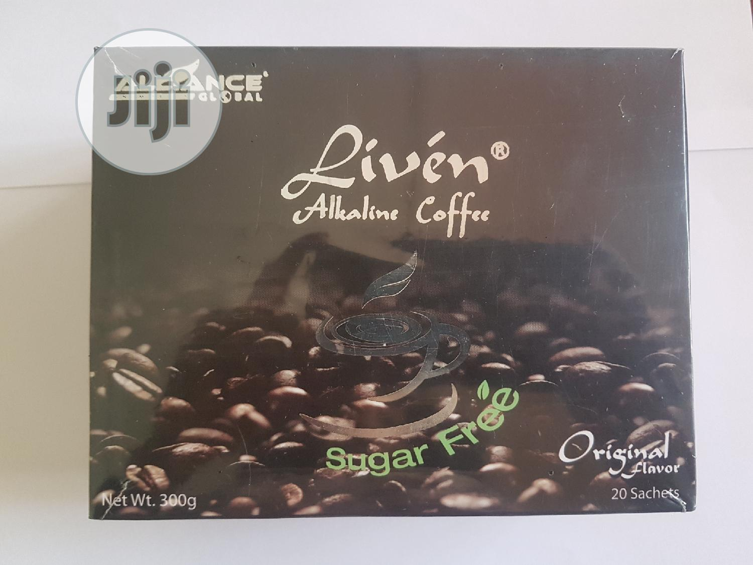 Liven Alkaline Coffee(Sugar Free) | Vitamins & Supplements for sale in Port-Harcourt, Rivers State, Nigeria