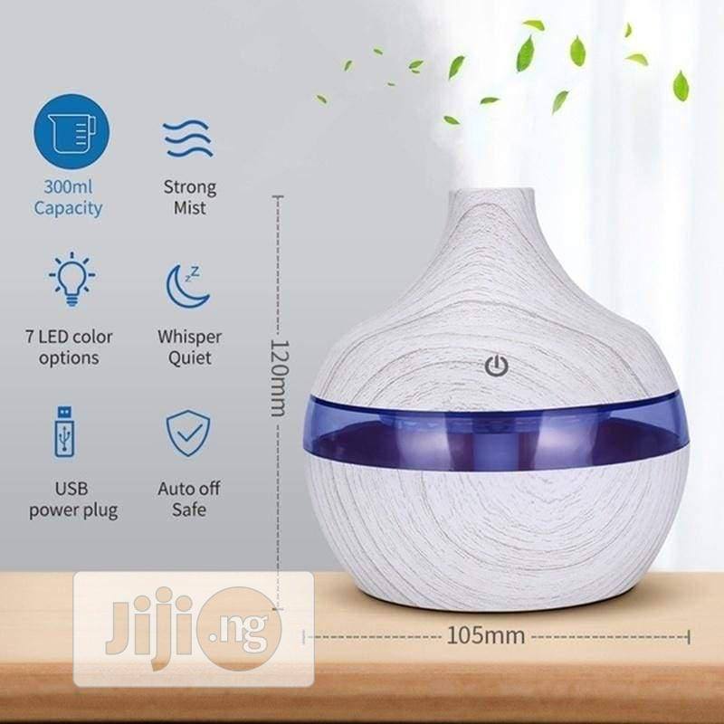 Ultrasonic Aroma Humidifier With Changing Of Color Led-white | Home Appliances for sale in Surulere, Lagos State, Nigeria