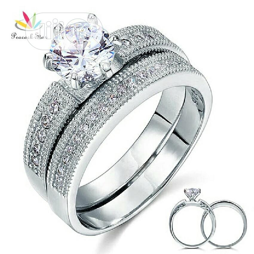 925 Steriling Silver Wedding And Engagement Ring | Wedding Wear & Accessories for sale in Ojo, Lagos State, Nigeria