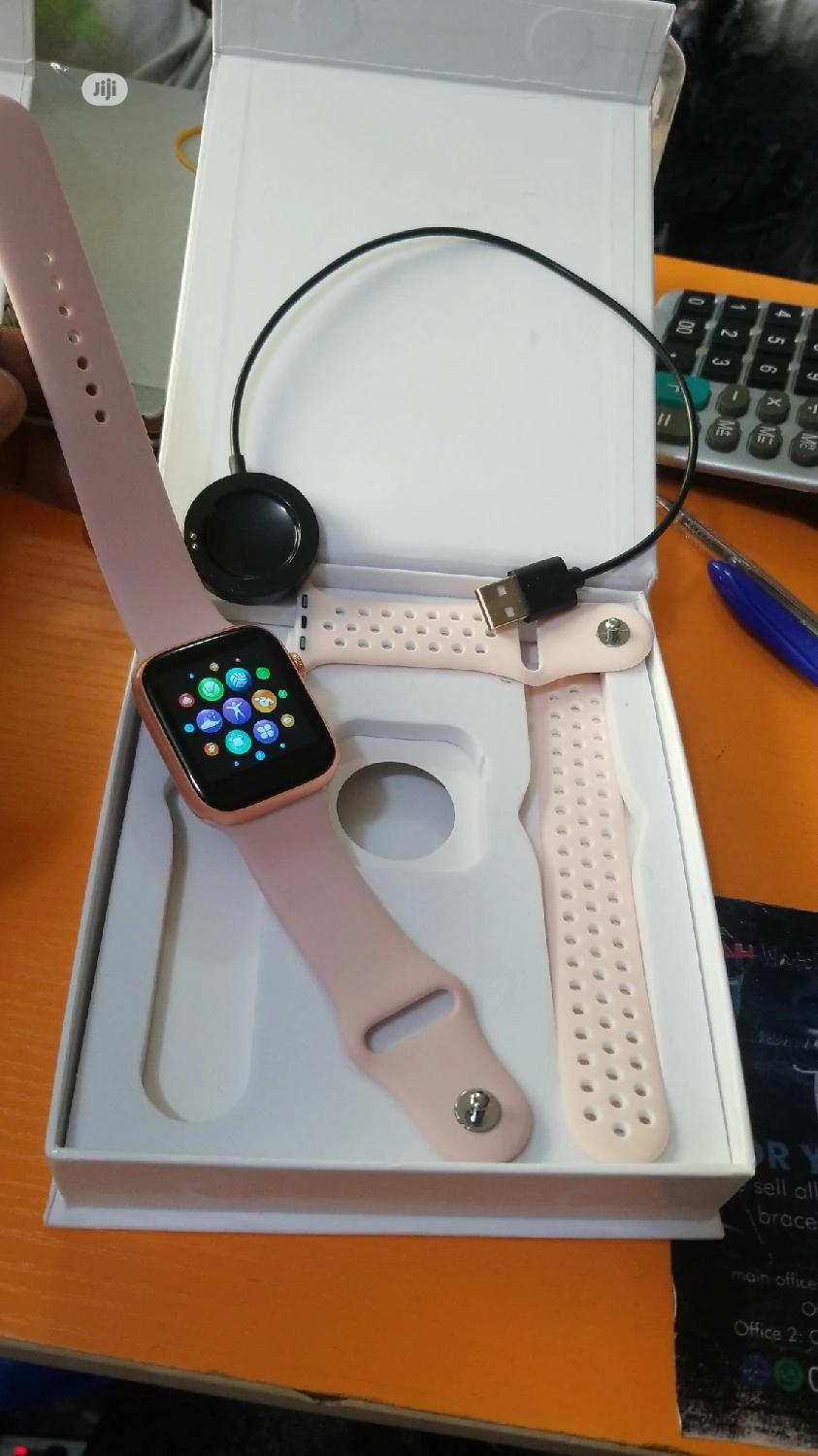 Smartwatch Series 5 Replica With Extra Rubber Strap Band