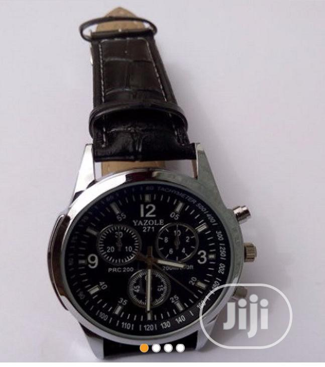 Leather Wrist Watch.